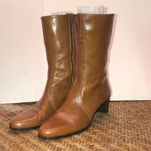 Cole Haan | Brown Leather Short Heel Boots